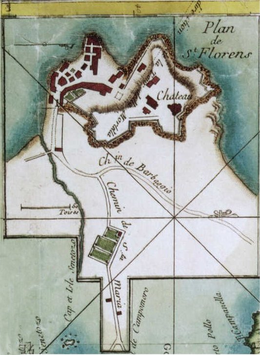 Plan de St Florent (1769)