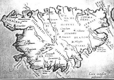 Carte de la corse d'après ptolémée
